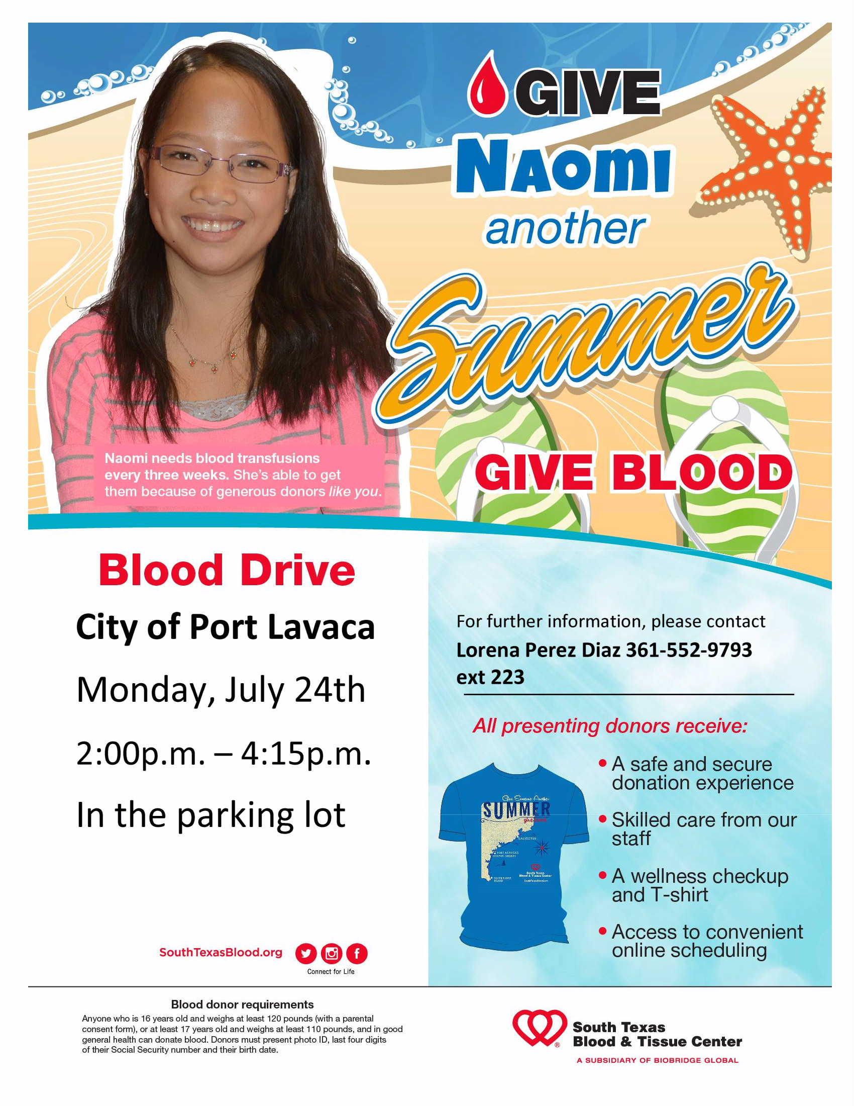 July 24, 2017 Blood Drive